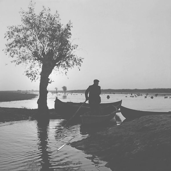 Man_on_a_boat_between_Reni_and_Ismail_(60-ies)__(6193892221)